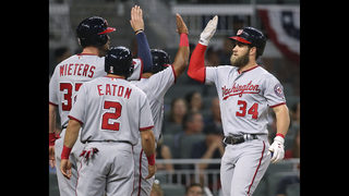 Harper hits 2 HRs, drives in 5, as Nats slam Braves 14-4