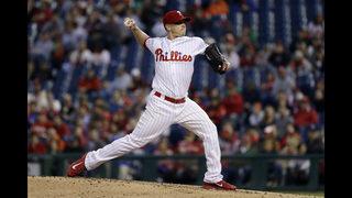 Hellickson, Hernandez lead Phillies past Braves 4-3