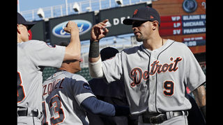 Jones hit in face by pitch, Tigers and Twins scrap on field