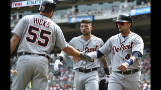LEADING OFF: Hicks a hit for Tigers, Blach set for Kershaw