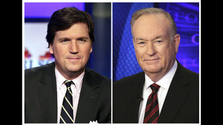 Carlson leads in ratings in first night post-O