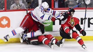 Karlsson helps Senators edge Rangers 2-1 in Game 1