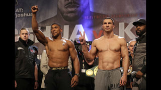 The Latest: Joshua up 4 rounds to none on AP scorecard