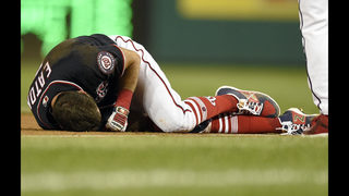 AP Source: Nationals CF Eaton out for season with hurt knee