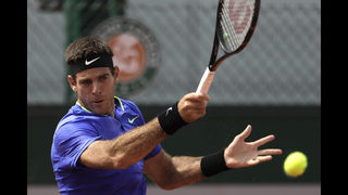 Del Potro wins 1st match at French Open since 2012
