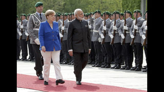 Merkel hosts Indian leader Modi, looks to broaden world ties