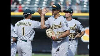 Olson, Brugman, Barreto hit 1st HRs, A