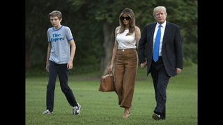 Melania Trump keeps DC entry low key; Barron draws interest