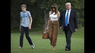 Now in Washington, Melania Trump still no social butterfly