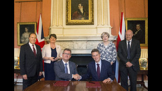 N Ireland party signs deals to support UK Conservative gov