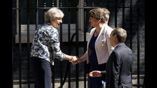 The Latest: N Ireland party leader