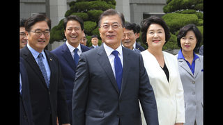 South Korean leader vows to stand with Trump on NKorea
