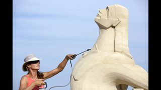 Sand sculpting fest draws artists from all over the world