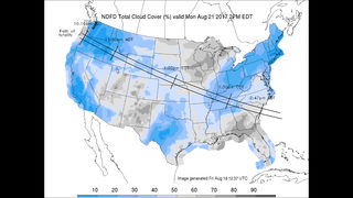 Eclipse weather forecast: Best in West, least in East
