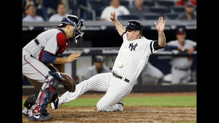 Judge hits No. 44, Chapman saves Yankees