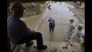 Hurricane Maria far to the east of Jacksonville