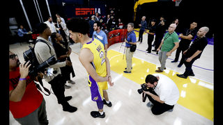 Lakers are happy with the hype surrounding rookie Lonzo Ball