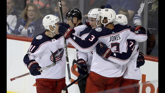Johnson helps Blue Jackets extend win streak to four | Boston 25 News