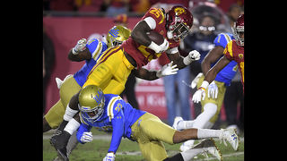 Darnold beats Rosen as No. 12 USC holds off UCLA, 28-23