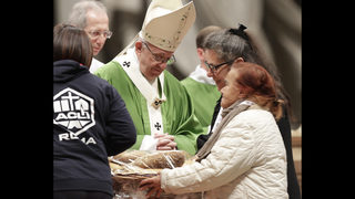 Pope devotes Mass to poor, calls indifference a