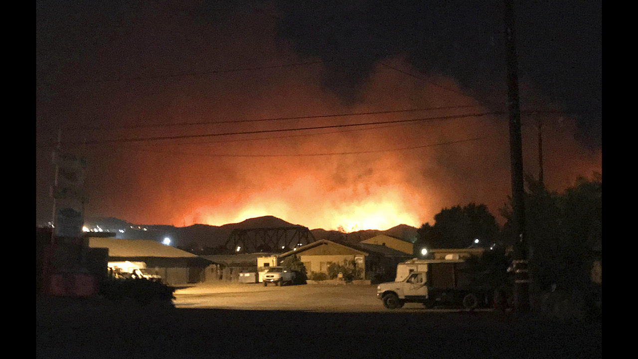 southern california fire forces thousands to evacuate wsoc tv