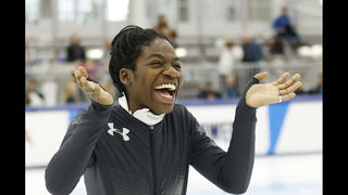 Biney is 1st black woman to make Olympic speedskating team