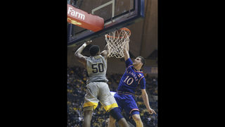 Mykhailiuk, Graham lead No. 10 Kansas over No. 6 WVU 71-66