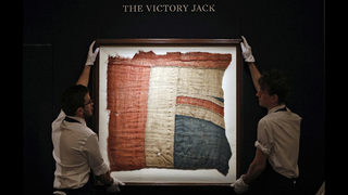 Scrap of flag from Nelson