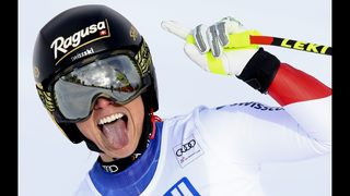Back in form after knee surgery, Gut wins Cortina super-G