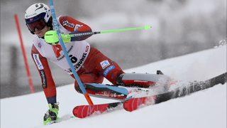 Kristoffersen leads Hirscher by 1 second in World Cup slalom