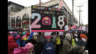 After huge US crowds, European women join chorus for change