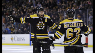 Marchand has goal, assist for Bruins in 3-2 win over Devils