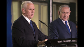 On last day in Israel, Pence visits Western Wall, Yad Vashem