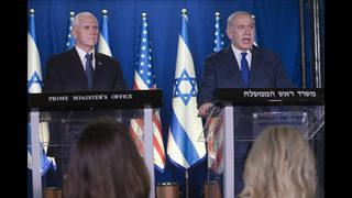 The Latest: Pence visits Jerusalem
