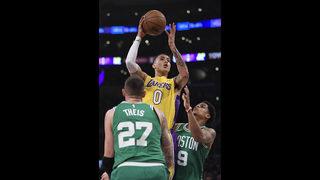 Kuzma gets 28, leads Lakers past rival Celtics 108-107