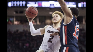 South Carolina holds on to upset No. 10 Auburn, 84-75