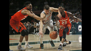 Battle helps Syracuse finish off Miami 62-55