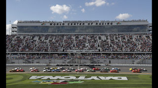 The Latest: Charlize cheering for Danica in NASCAR finale