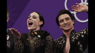 Virtue, Moir lead ice dancing after record short dance
