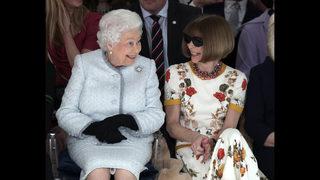 Queen Elizabeth II makes first visit to London Fashion Week