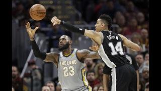 Spurs stop slide, down LeBron, Cavaliers 110-94