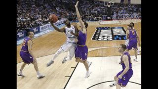 Defending champ North Carolina opens up, tops Lipscomb 84-66