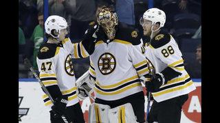 Rask, Bruins hand Lightning first SO of season in 3-0 win