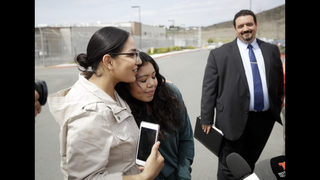 Immigrant arrested in widely seen video is released for now