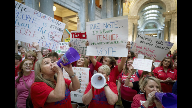 In Kentucky, teachers claim victory as vetoes rejected | WFTV