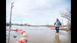 Snowmelt floods roads, fields in much of northern Montana