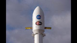 The Latest: SpaceX rocket booster lands on floating platform