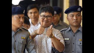 Myanmar policeman testifies arrested reporters were set up