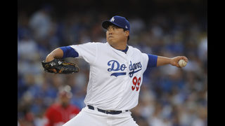 Dodgers back Ryu with 3 HRs in 4-0 win over Nationals