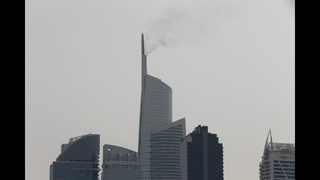 High-rise tower in Dubai catches fire; no injuries reported